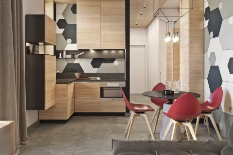 Smart apartment interior. Kyiv, RC